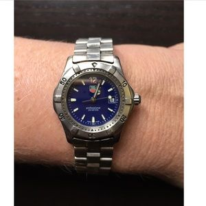 Tag Heuer Blue Stainless Steel Professional 200 meter ladies watch